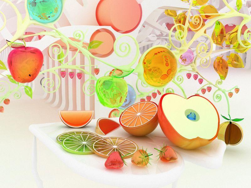 fondos de pantalla de Frutas Cromo. wallpapers de Frutas Cromo