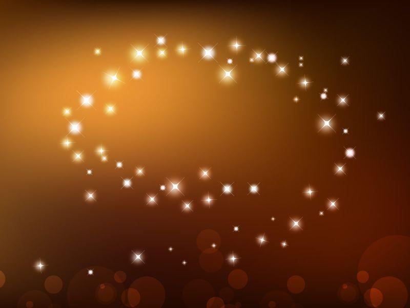 Fondos de Pantalla / Abstractos / Estrellas Naranjas