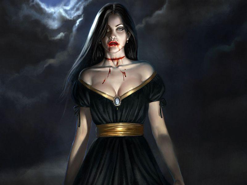Fondos de Pantalla / Terror / Bella Vampira