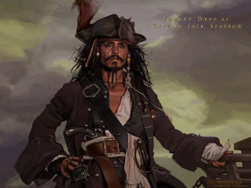 Fondos De Pantalla De Dibujo Jack Sparrow Wallpapers De