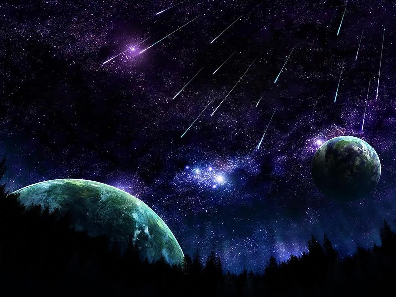 Fondo pantalla lluvia de estrellas